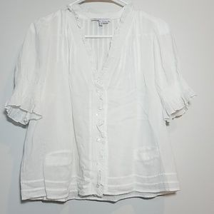See by Chloe Sheer Lightweight cotton top
